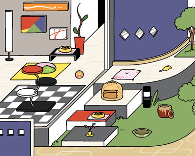 モダンはその2つに比べると全体的になんとなくまとまり感が無いというか、そもそも猫が好きそうな部屋じゃ無いのが人気が無い理由かな?